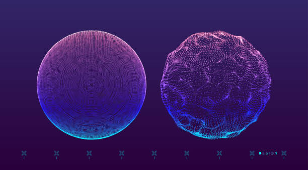 3d Sphere. Global digital connections. Technology concept. Vector illustration. 3d Sphere. Global digital connections. Technology concept. Vector illustration. sphere stock illustrations