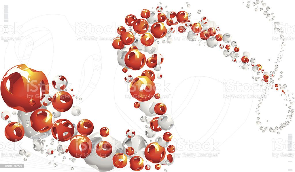 3d sphere particle design royalty-free stock vector art