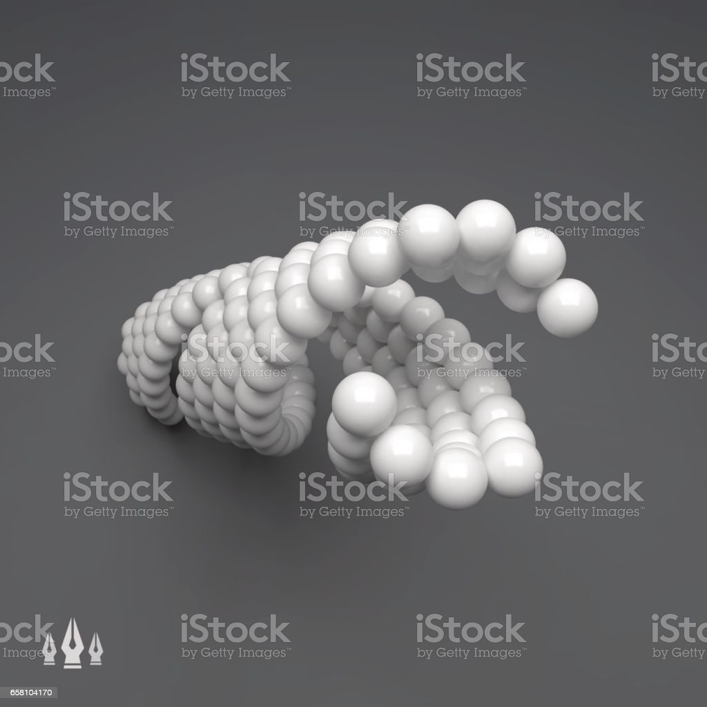 3d Spheres Composition. Vector Template. Vector illustration for Design. royalty-free 3d spheres composition vector template vector illustration for design stock vector art & more images of abstract