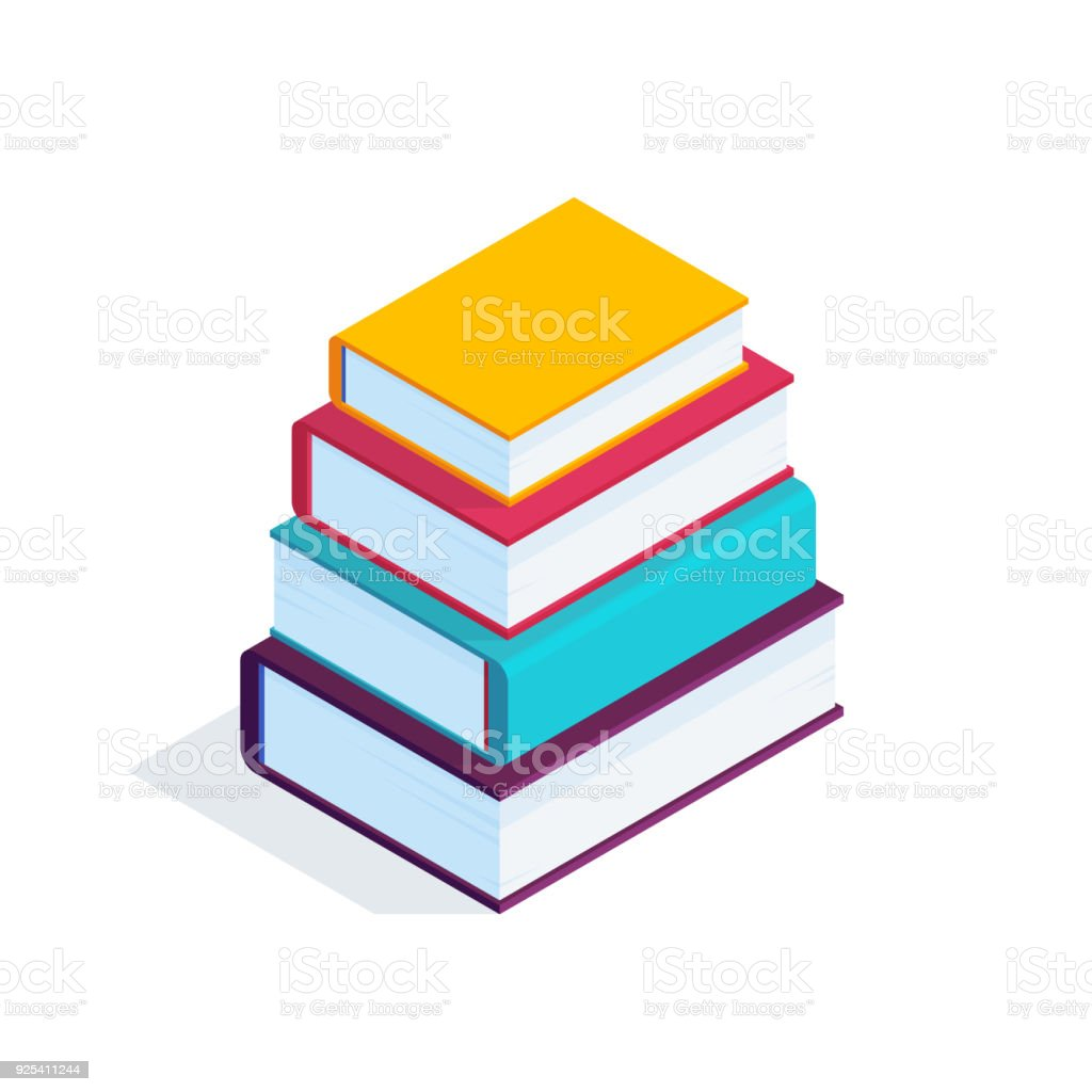 3d stack of books stock vector art more images of book 925411244 rh istockphoto com book vector image book vector icon