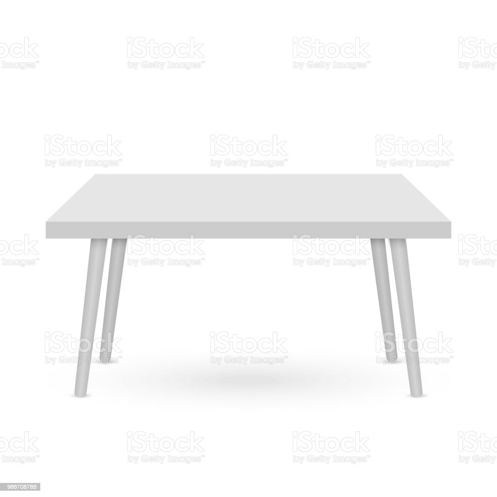 3d Table mockup vector art illustration