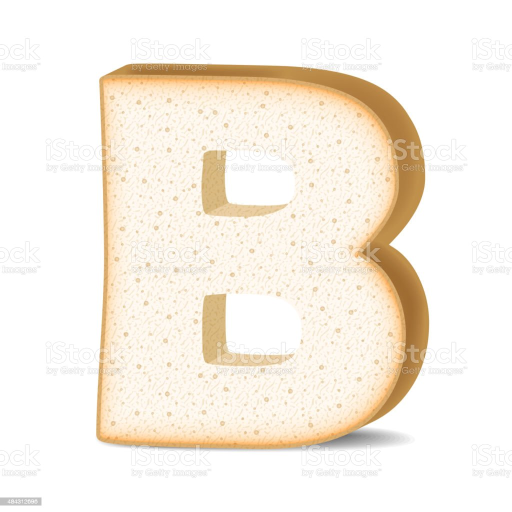 3d Toast Letter B Stock Vector Art 484312696
