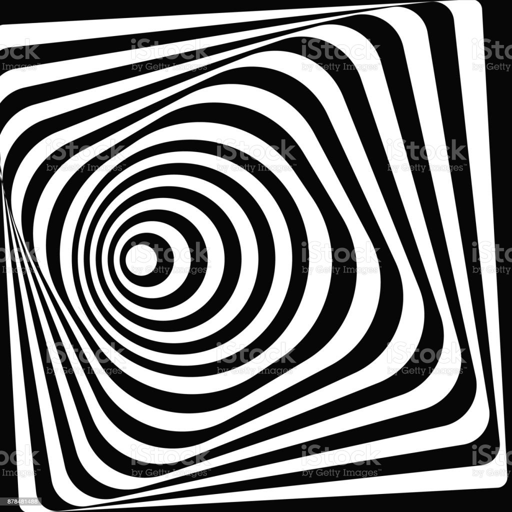 3d tunnel optical illusion a black and white vector