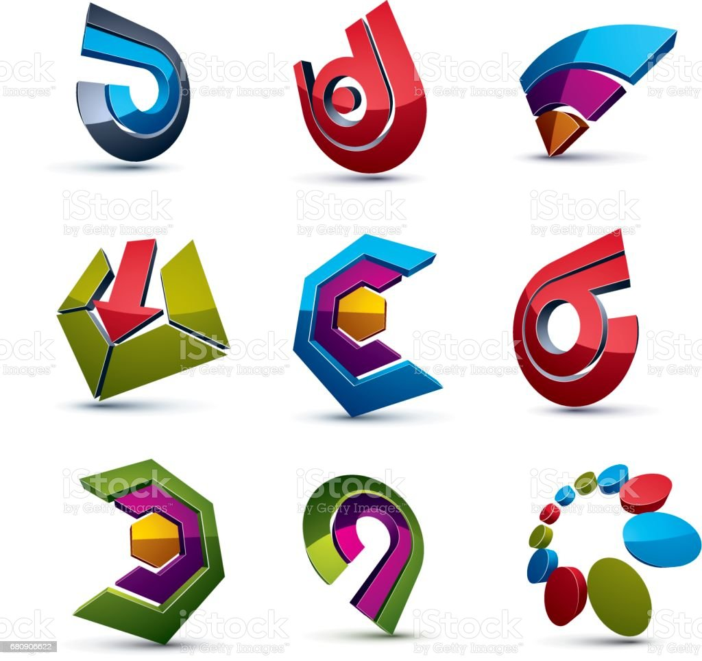 3d vector abstract shapes, different business icons and design elements collection. Geometric abstract arrows for use as navigation pictograms and app buttons. royalty-free 3d vector abstract shapes different business icons and design elements collection geometric abstract arrows for use as navigation pictograms and app buttons stock vector art & more images of abstract