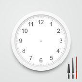 3d vector blank clock face