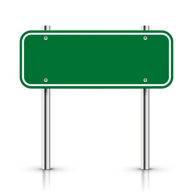 ilustrações de stock, clip art, desenhos animados e ícones de 3 d vector branco verde sinal de estrada de tráfego - driveway, no people