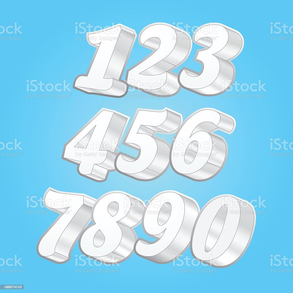 3d Vector Counting Number royalty-free stock vector art