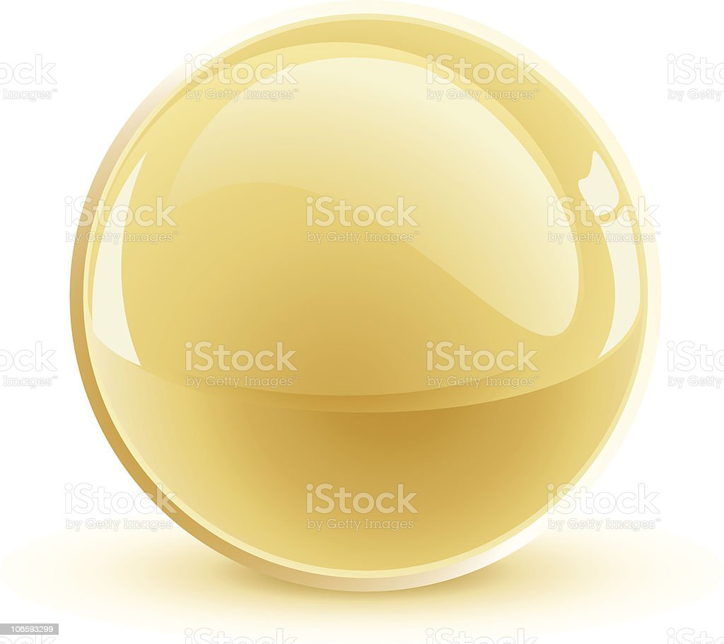 3d vector gold sphere royalty-free stock vector art
