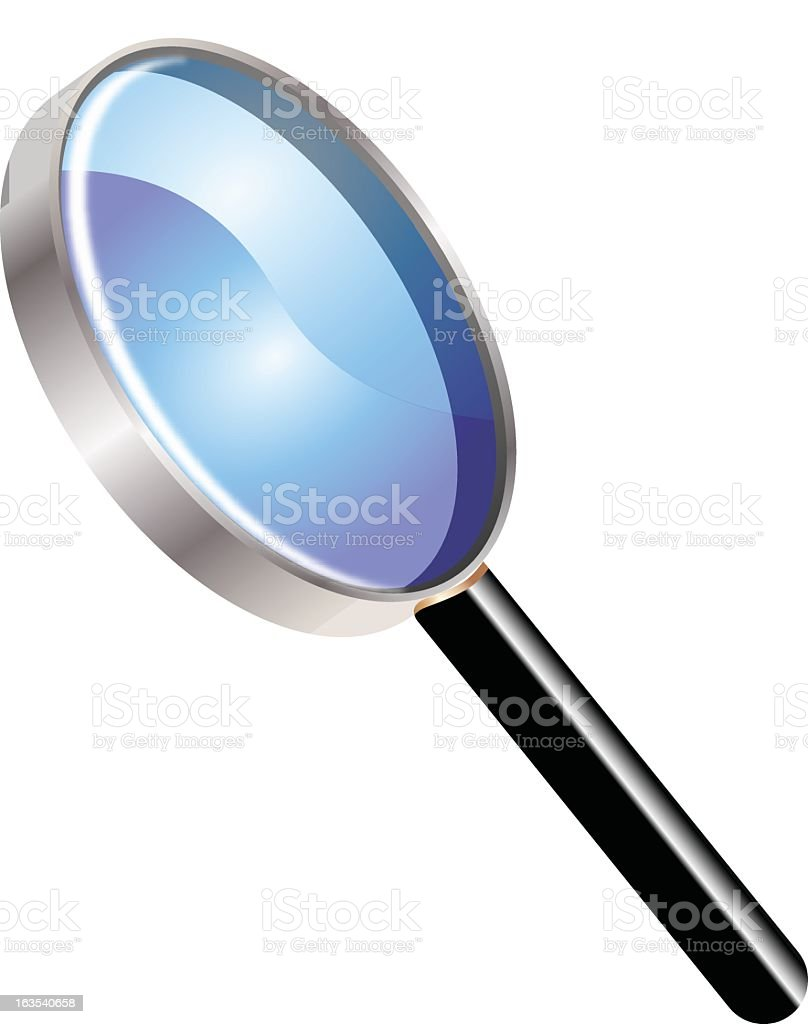 3d vector illustration of a magnifying glass royalty-free stock vector art