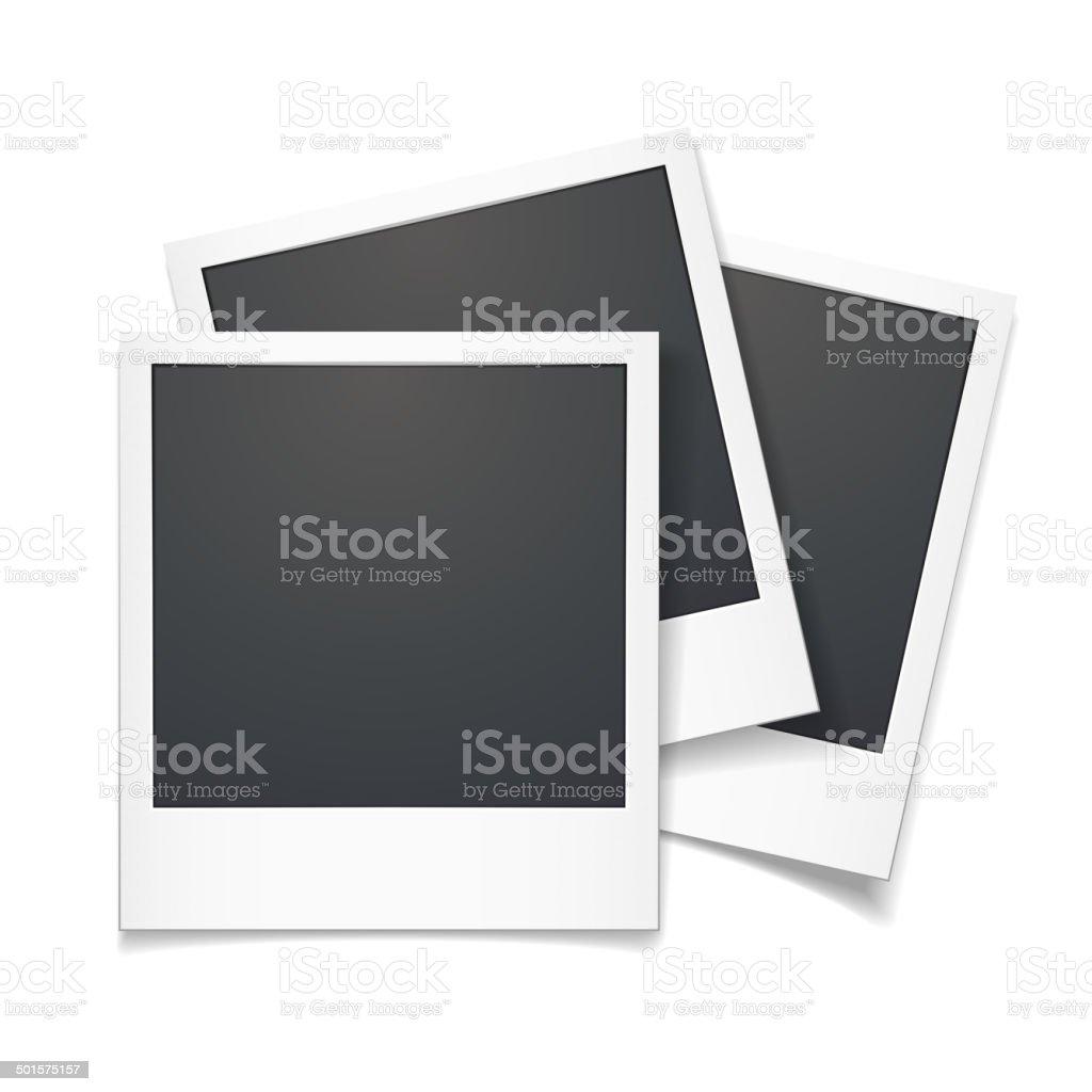 3d vector polaroid photo frame vector art illustration