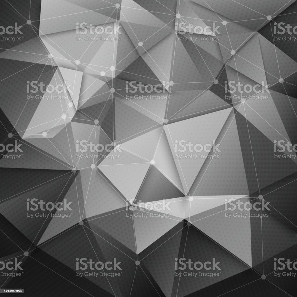 Abstract 3d vector technology background with wireframe structure....