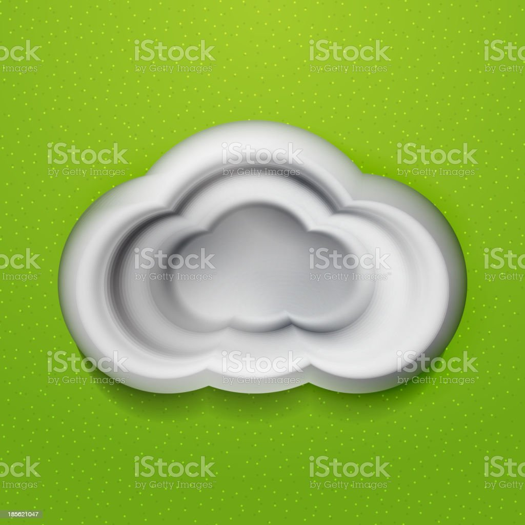 3d white clouds royalty-free stock vector art