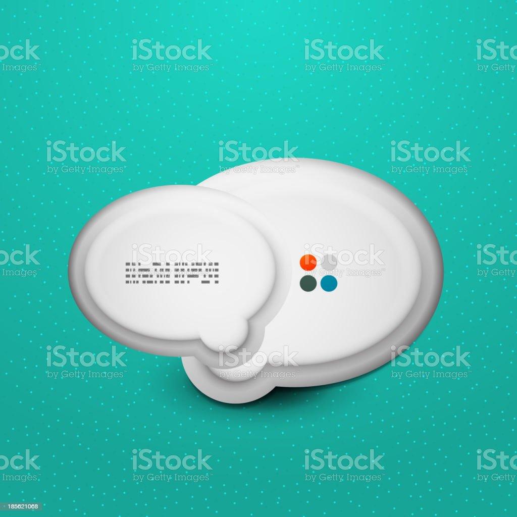 3d white speech bubble modern template royalty-free stock vector art