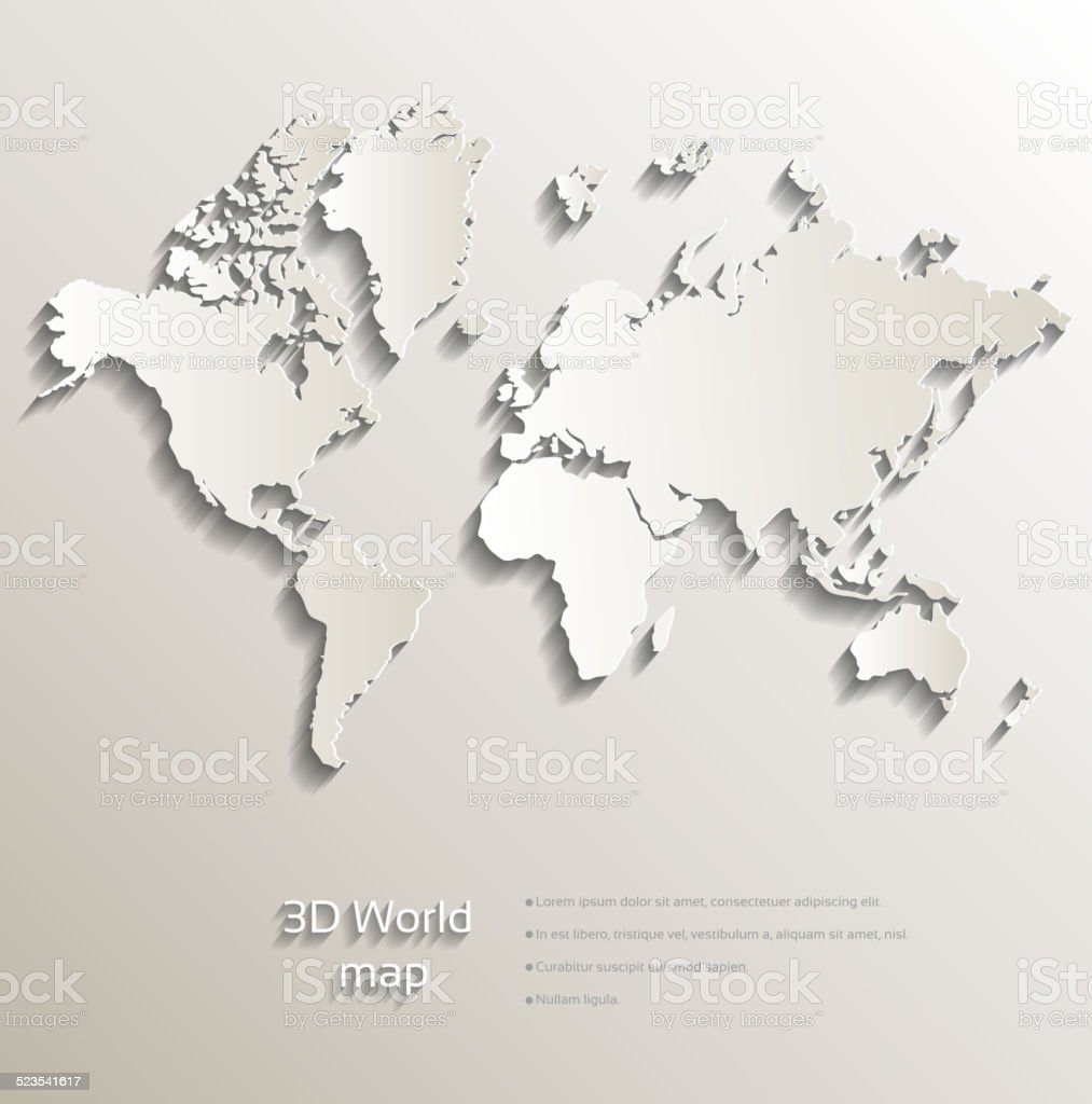 3d world map stock vector art more images of abstract 523541617 3d world map royalty free 3d world map stock vector art amp more images gumiabroncs Image collections