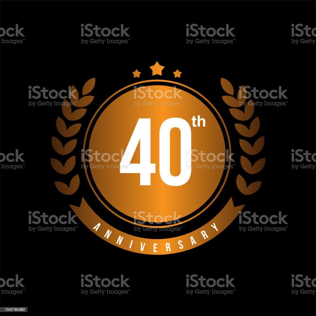 40th Anniversary Vector Template Design Illustration Stock Vector