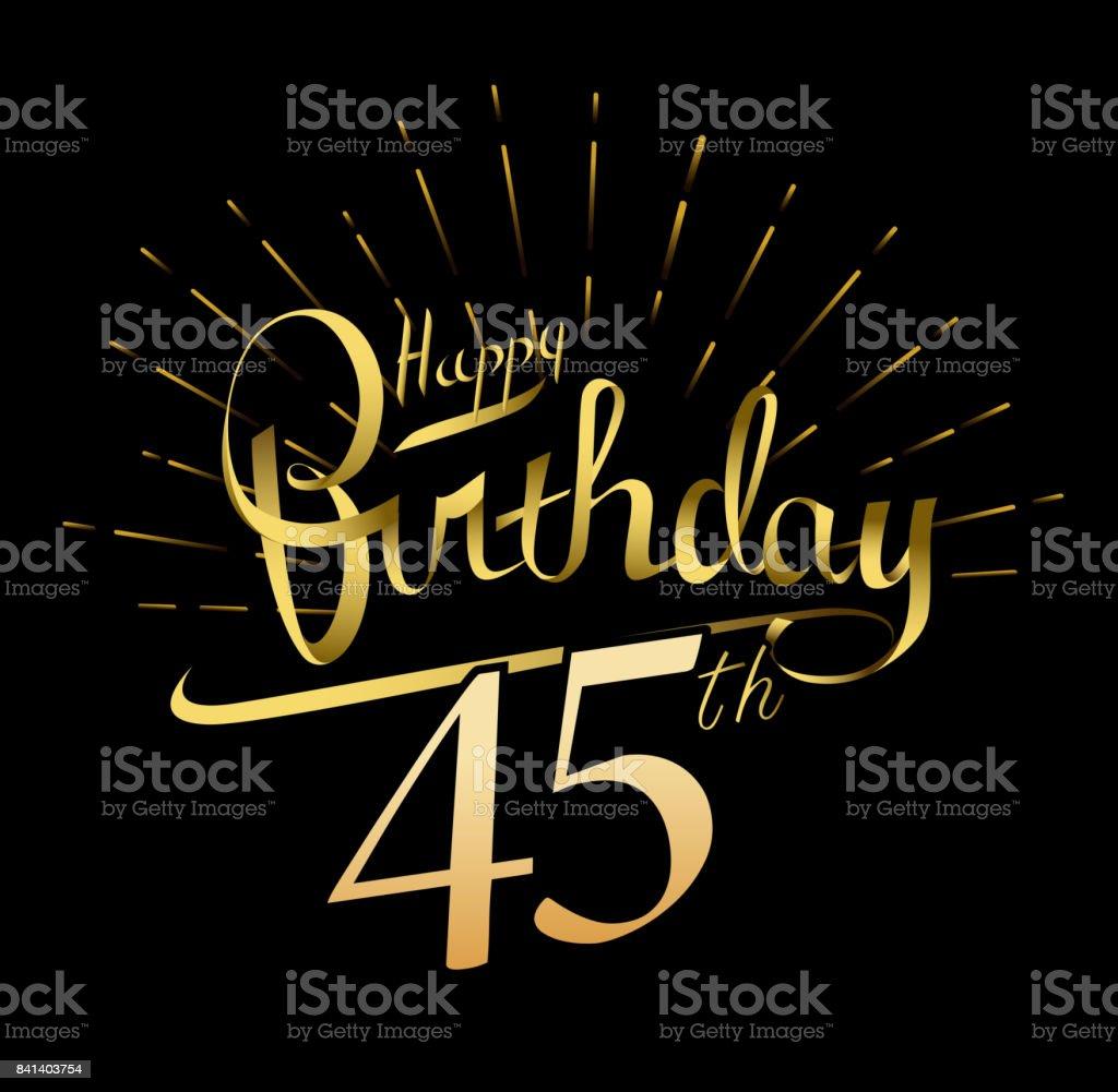 Alles gute 45 geburtstag
