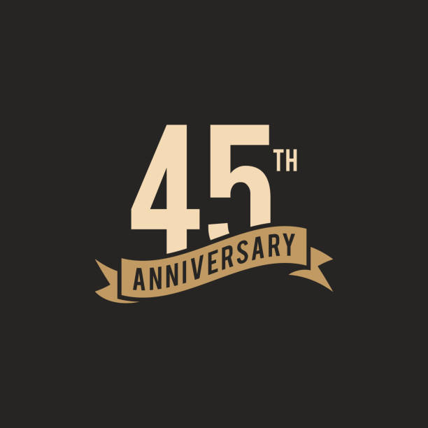 45th Years Anniversary Celebration Icon Vector Stock Illustration Design Template 45th Years Anniversary Celebration Icon Vector Stock Illustration Design Template. Vector eps 10. greeting card with the 45th anniversary stock illustrations