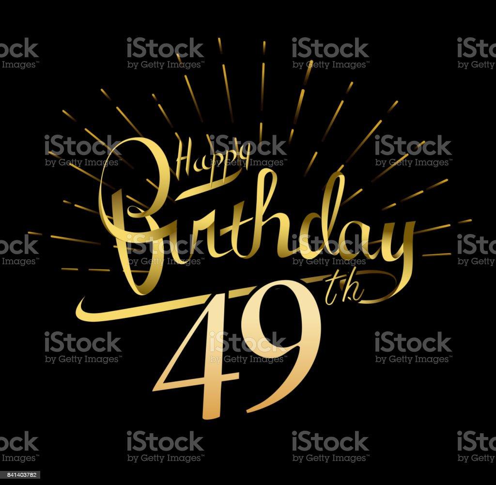 49 Alles Gute Zum Geburtstag Entwerfen Schöne Grußkarte Poster Mit