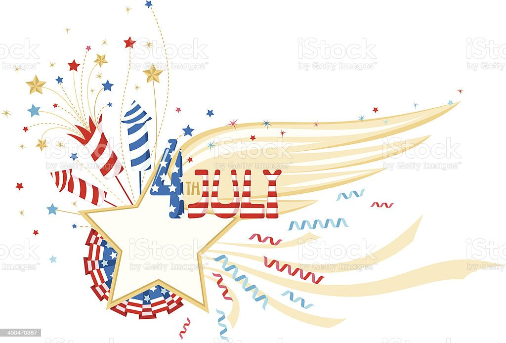 4th July decorative frame royalty-free stock vector art