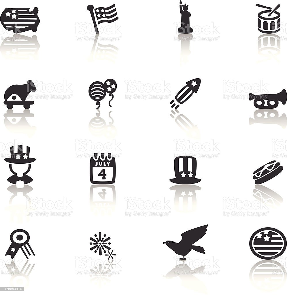 4th july Icon royalty-free stock vector art