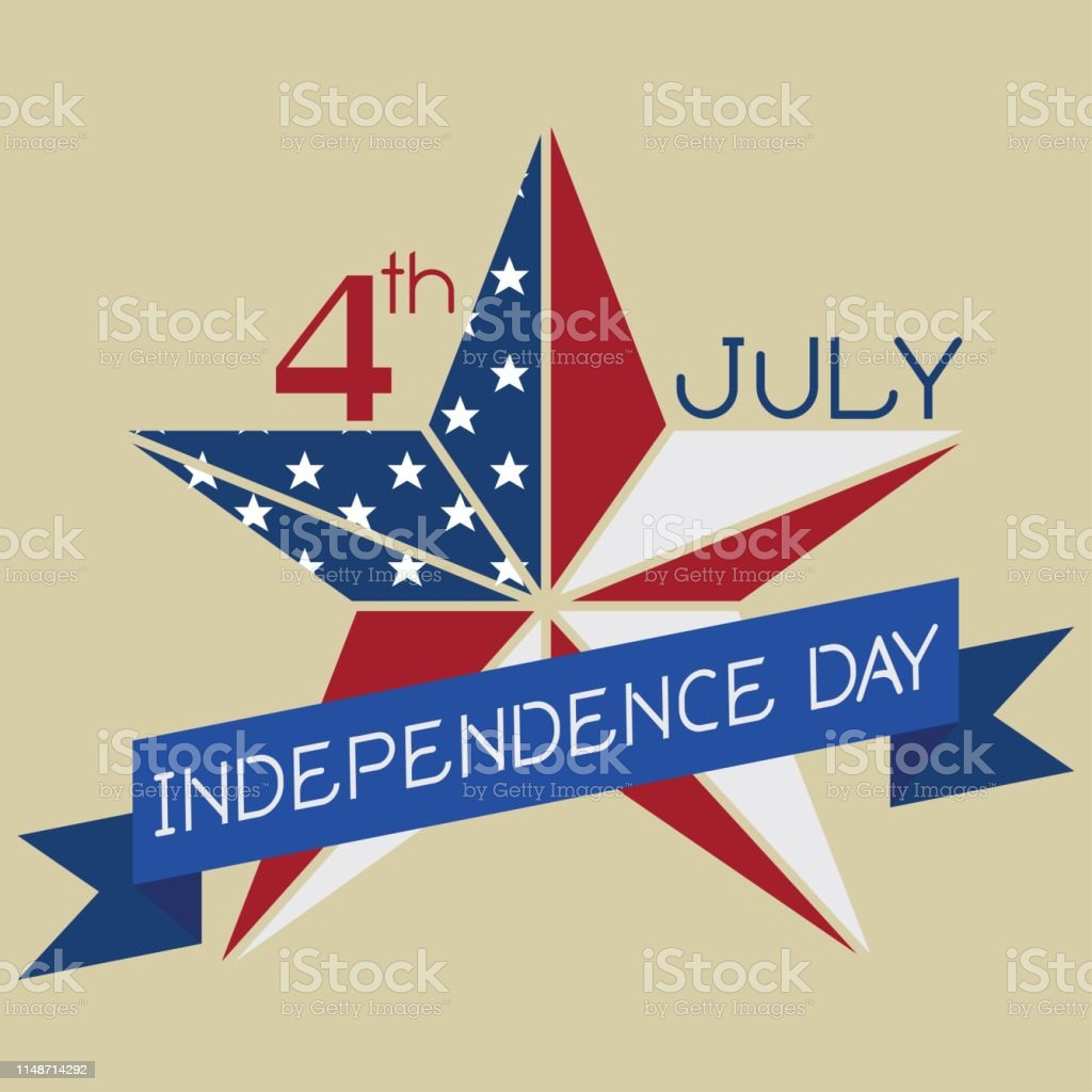 4 Juli Unabhängigkeitstag United States Of America Map Mit ...