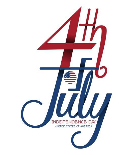 4 7 월 독립 기념일, 미국 국기 벡터와 지도. 벡터 아트 일러스트