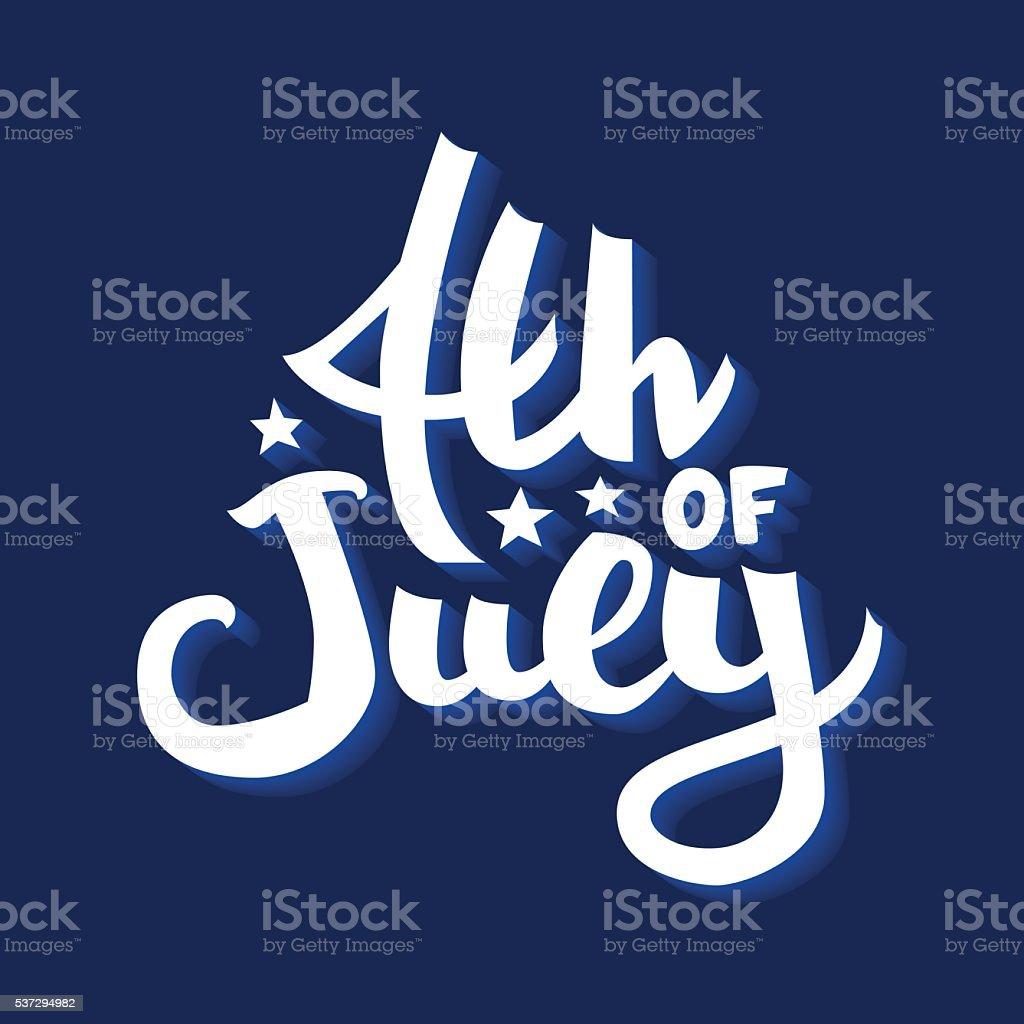 4th July vector art illustration