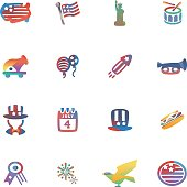 The vector file of 4th of July icon.