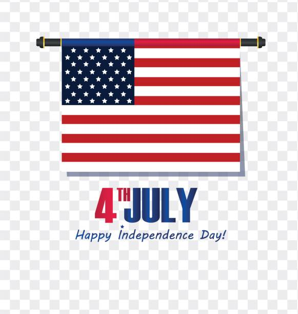 4th of july - abstract flag design - independence day in the united states of america - fourth of july stock illustrations