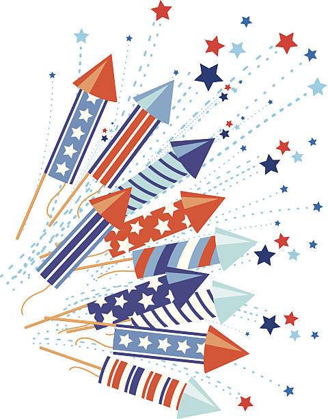 4Th of July Background vector art illustration