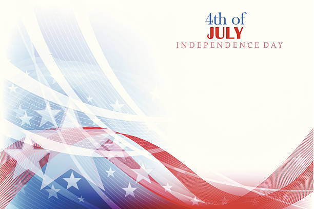 4th of july background - american flag background stock illustrations