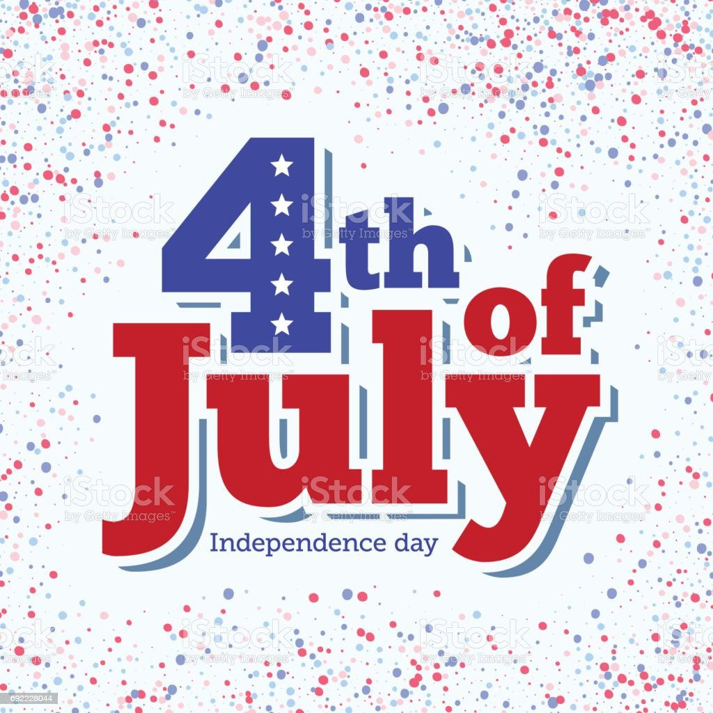 4th of July background. vector art illustration