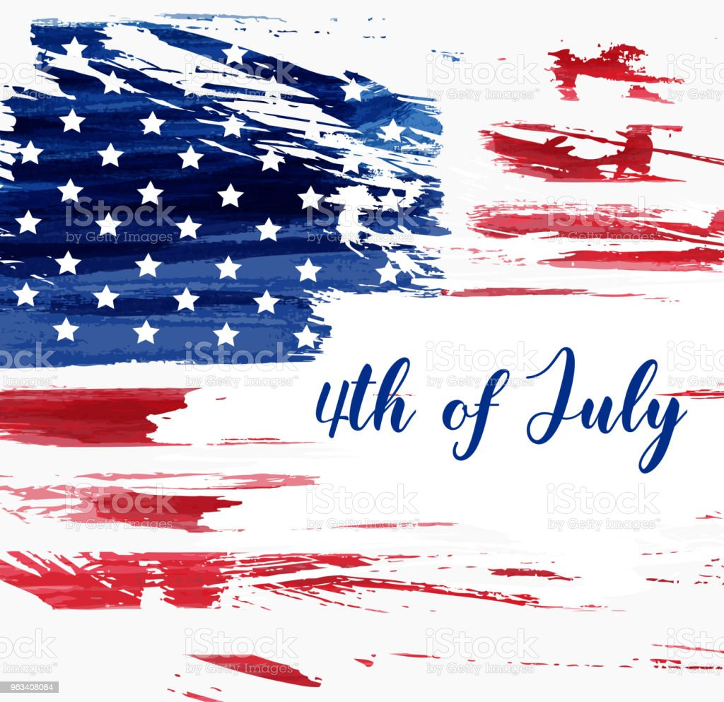 USA 4th of July background vector art illustration