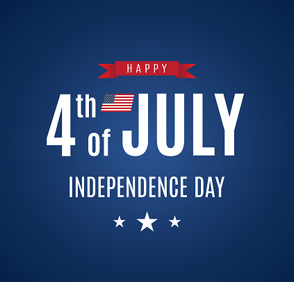 4th of July card. Independence Day. Vector