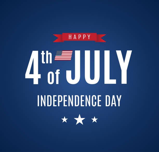 ilustraciones, imágenes clip art, dibujos animados e iconos de stock de tarjeta del 4 de julio. día de la independencia. vector - july 4th