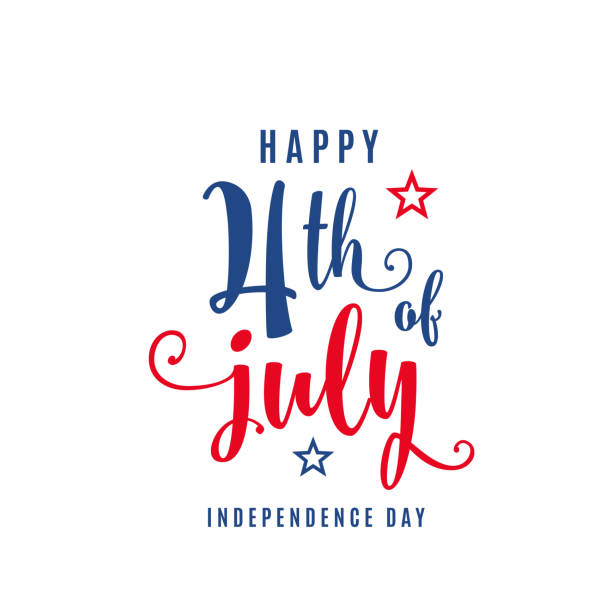 4th of july celebration holiday banner. usa independence day poster for greeting, sale concept design - independence day stock illustrations