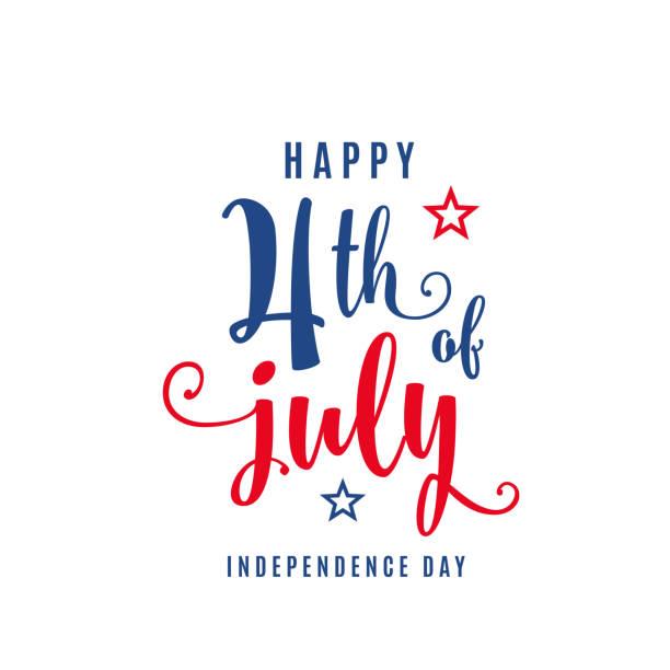 7月4日慶祝節日橫幅。美國獨立日海報為問候, 銷售概念設計 - independence day 幅插畫檔、美工圖案、卡通及圖標