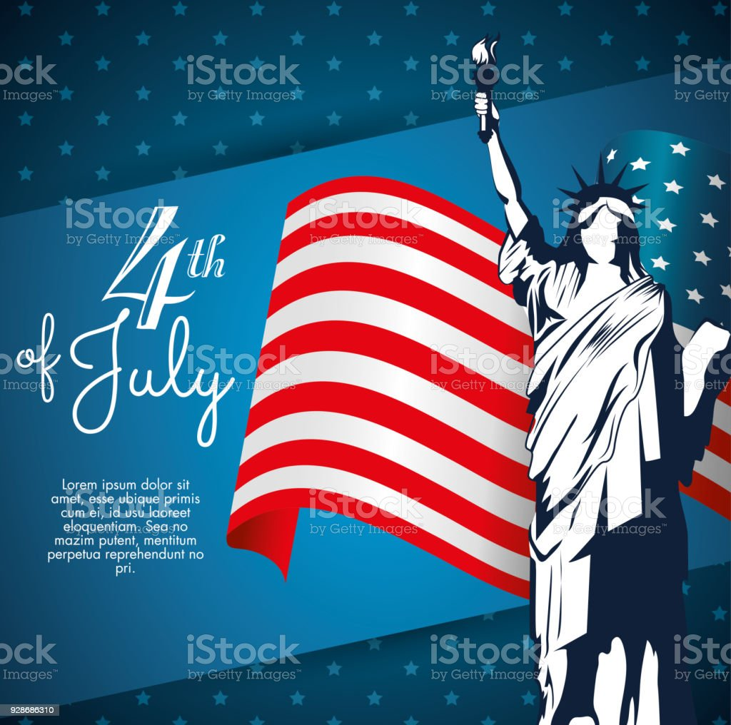 4th of july design vector art illustration