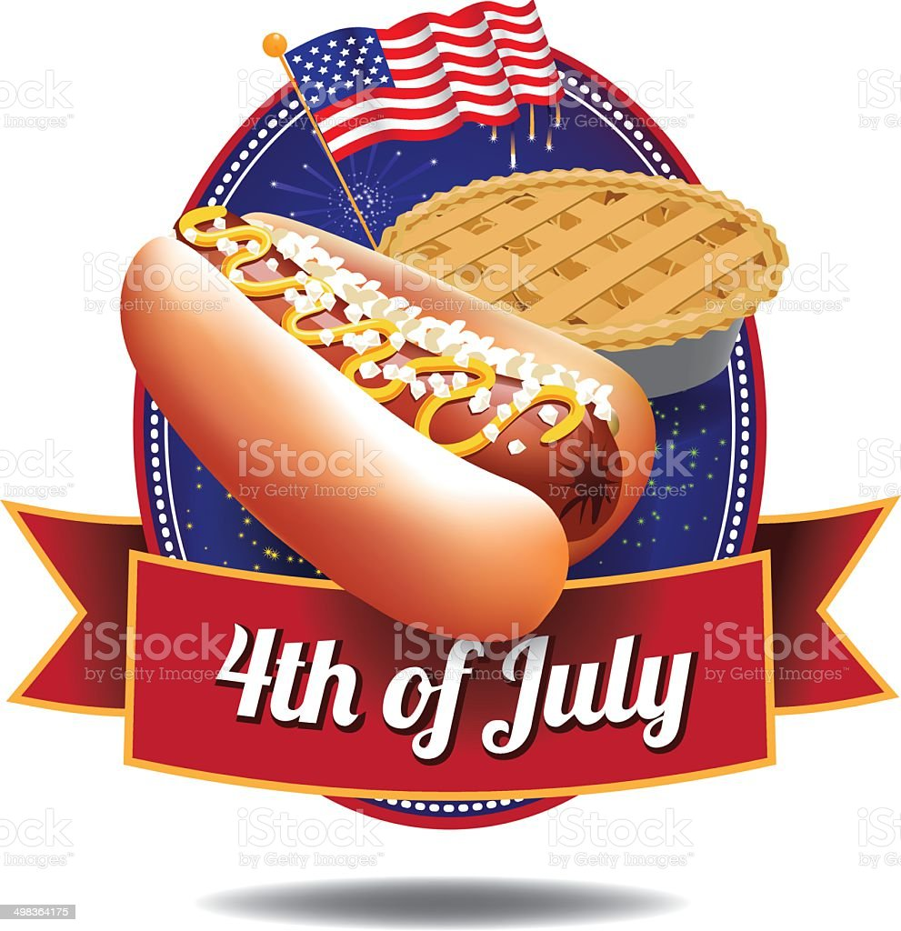 4th of July icon vector art illustration