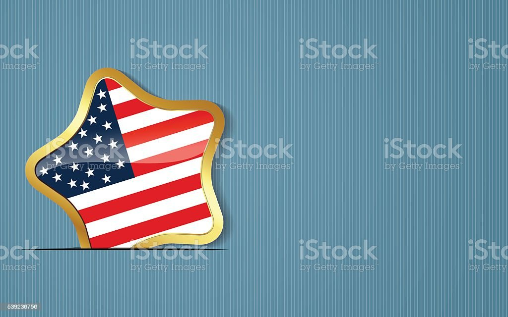 4th of July Independence day background. vector art illustration