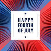 4th of July template with firework, Independence Day banner You can edit the colors or sizes easily if you have Adobe Illustrator or other vector software. All shapes are vector