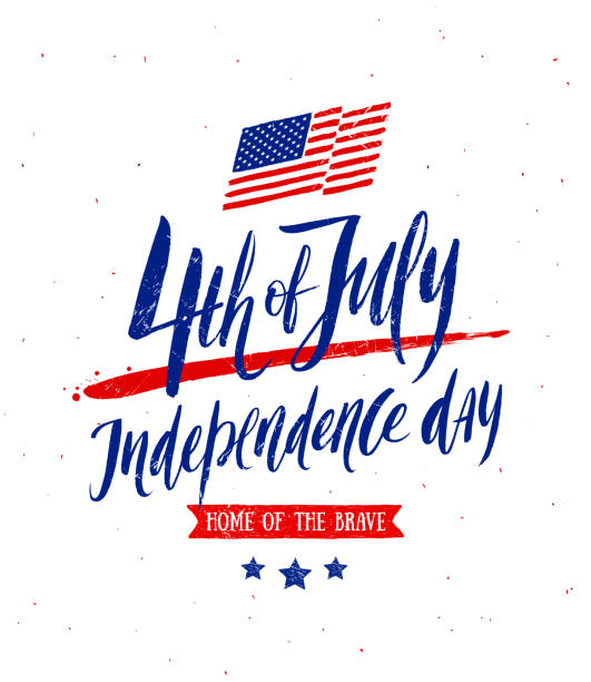 7月4日, 獨立日問候設計。 - independence day 幅插畫檔、美工圖案、卡通及圖標