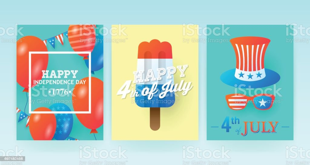 4th of July, Independence Day of the United States, banner design. Vector illustration vector art illustration