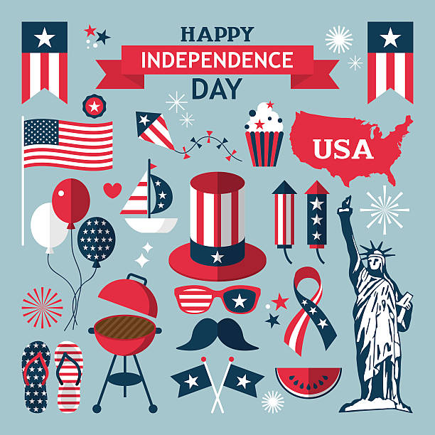 4th of July, Independence Day of the United States vector art illustration
