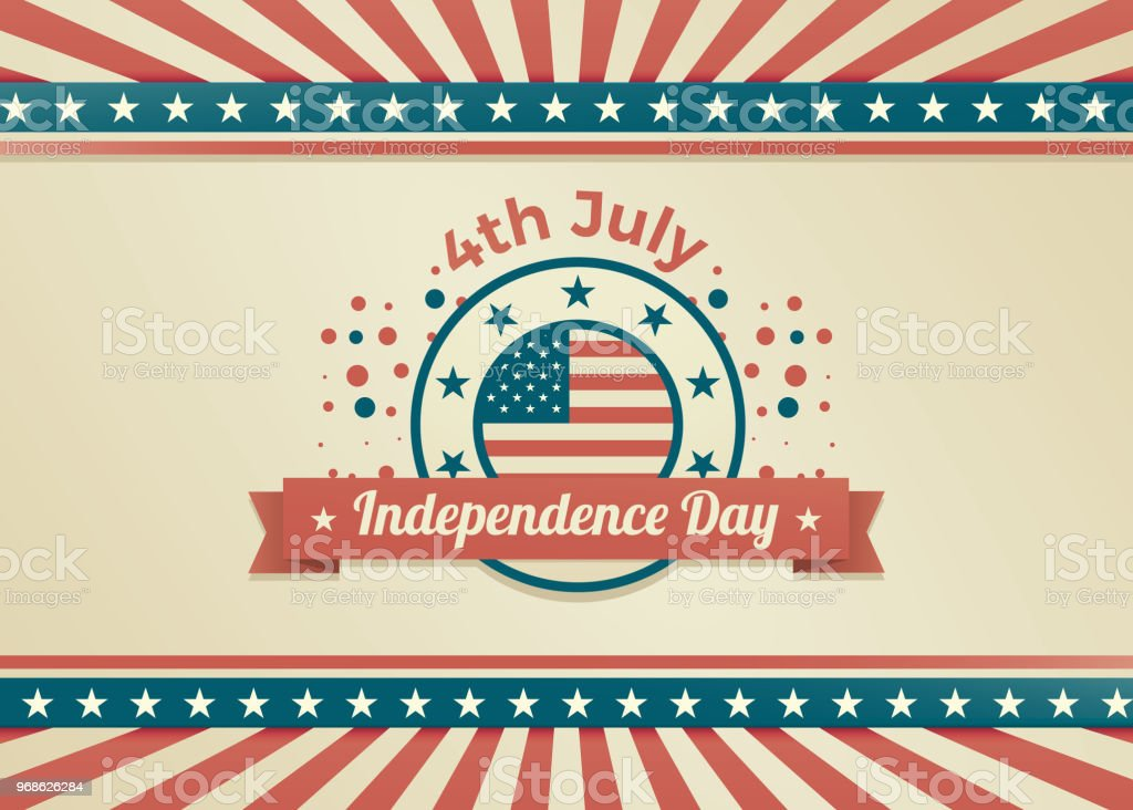 4th of july independence day retro design vector illustration for posters flyers