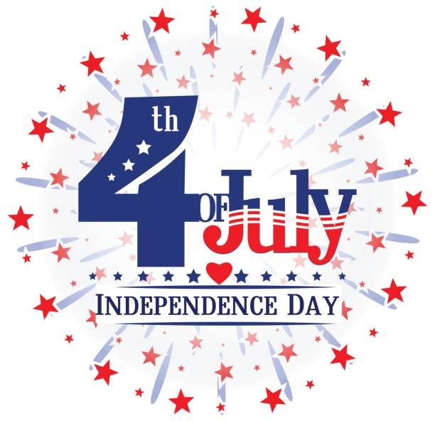 4th  of July independence  USA day. vector art illustration
