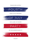 4th of July Party Invitation Template - Illustration