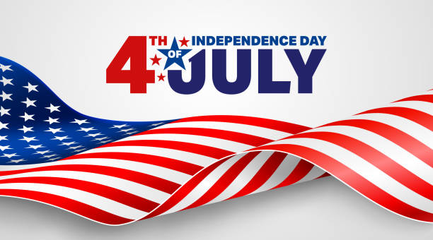 4th of July poster template.USA independence day celebration with American flag.USA 4th of July promotion advertising banner template for Brochures,Poster or Banner.Vector illustration EPS 10 vector art illustration
