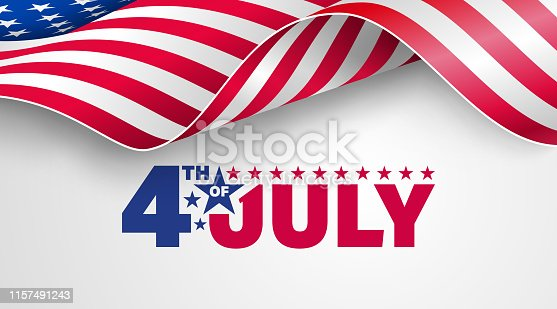 4th of July poster template.USA independence day celebration with American flag.USA 4th of July promotion advertising banner template for Brochures,Poster or Banner.Vector illustration EPS 10
