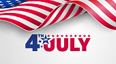 istock 4th of July poster template.USA independence day celebration with American flag.USA 4th of July promotion advertising banner template for Brochures,Poster or Banner.Vector illustration EPS 10 1157491243